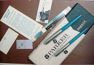Parker 61 Fountain Pen And Pencil Set New In Box With Tags & Papers