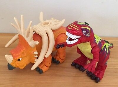 Fisher Price Imaginext Dinosaurs  Spear The Stracosaurus & T-Rex