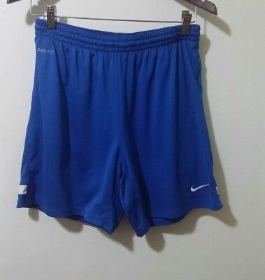 Nike Men's Dri-Fit Blue White Athletic Running Jogging Shorts Size Small