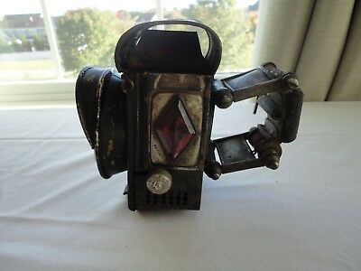 "Antique ""BELL ROCK"" Hard Tire Safety Bicycle Bike Lantern  w/ Mounting Bracket"