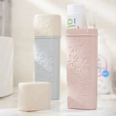 Travel Hiking Toothbrush Toothpaste Case Box Cover Protect Holder Tool Portable#