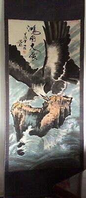 Chinese Eagle Scroll Painting