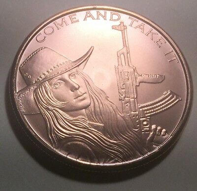 United States 'Come and Get It' One Ounce (1oz.) Pure Copper Coin - Round