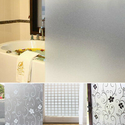 200 x 90CM Room Bathroom Home Glass Window Door Privacy Film Sticker PVC Frosted
