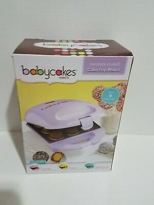 MULTI AVAILABLE: The Original Babycakes Minis Cake Pop Maker Nonstick Coating