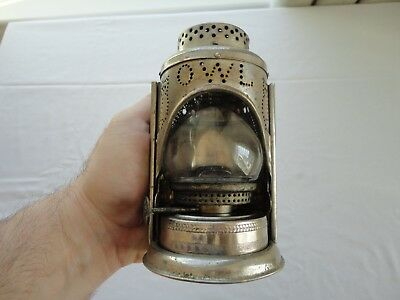 "Rare Antique Unusual ""OWL"" Bicycle Bike Lantern Lamp"