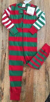 Nwt Hanna Andersson Baby Sleepers Organic Cotton, One Piece 2t, 85cm Christmas
