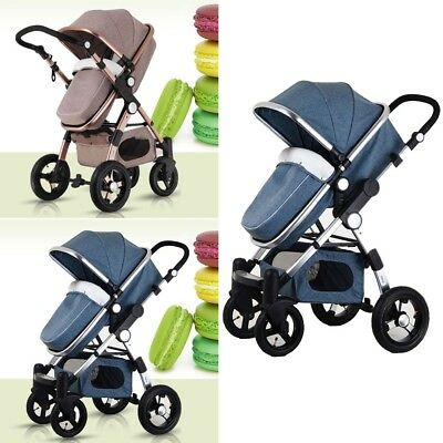 Foldable View Stroller 3 Pushchair Car Luxury 1 Bassinet Pram Seat Baby in High
