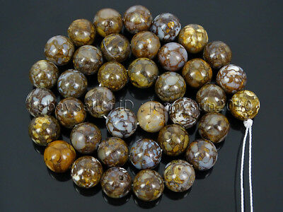 Auction 38Pcs Natural Fire Lace Opal Gemstone Round Spcer Beads 15.5'' 10mm