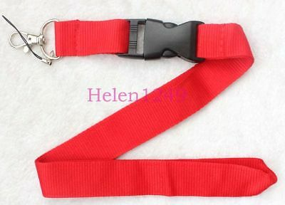 Free shipping ! New! 10pcs Red Solid Blank neck Lanyard for ID Key chain Cell