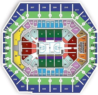 2 - Lower Level Center Court Tix: GS Warriors vs. Indiana Pacer 12/18/17