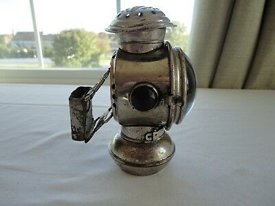 "Rare Antique ""UNCLE SAM"" Bicycle Bike Lantern Lamp with Mounting Bracket"