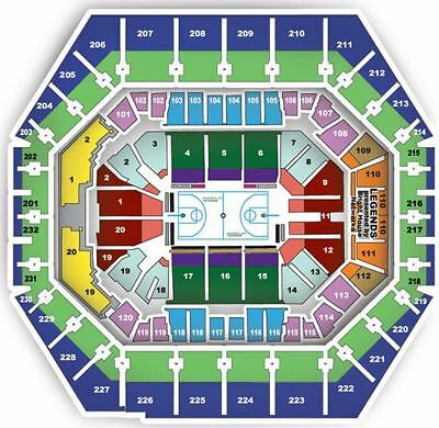 2 - Lower Level Sideline Tix: GS Warriors vs. Indiana Pacer 4/5/18