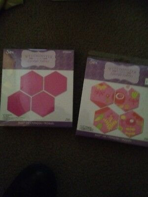 """Westminster Sizzix Hex Dies 2"""" And 2 1/2"""" Hexie Paper Piecing Quilting Patchwork"""