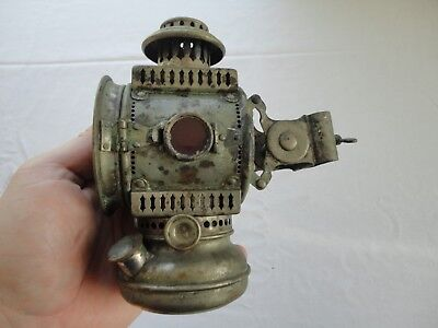 "Rare Antique ""NORTH STAR"" Bicycle Bike Lantern Lamp with Mounting Bracket"