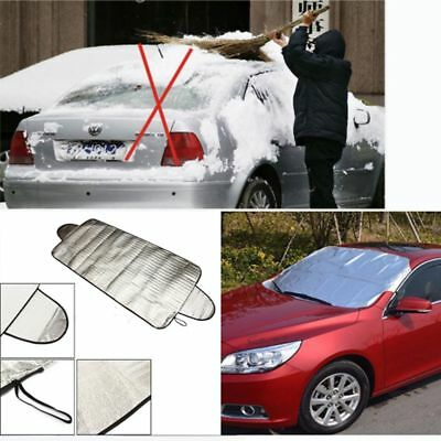 HQ Portable Car Windshield Anti Snow Frost Ice Dust Shield Sun Shade Cover