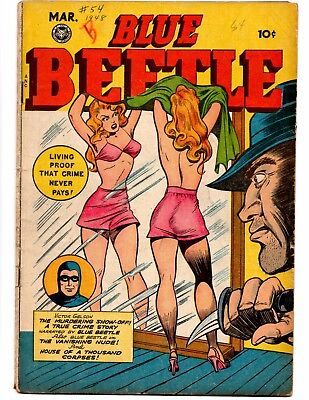 Blue Beetle 54 (Fox 3/1948) Fantastic Gga Cover! Highly Coveted!  Qual 4.0