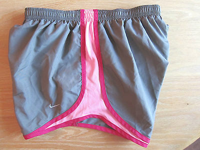 Nike Tempo Shorts Dri Fit Brown-Gray Pink Track Running Women Medium M