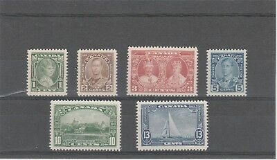 Canada 1935 Kgv Sg335-Sg340 Lovely Silver Jubilee Set Of Six Mint Stamps