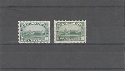 CANADA 1935 KGV 2 X SG339 10c GREEN AND 10c BLUE GREEN MINT NO HINGED STAMPS