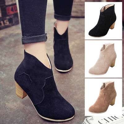 New Arrival Winter Shoe Suede Boots High Heels Woman Shoes Ladies New Size