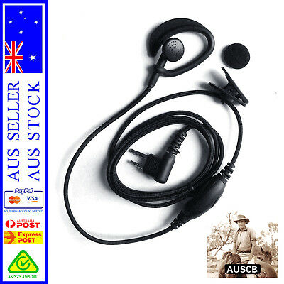 AUSCB Heavy Duty Earpiece Microphone - Suits AUSCB 5W 80CH UHF CB Handheld