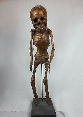 "Mummified Pygmy remains (full size 2ft 8"") on display stand Museum Quality"