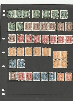 Canada 1937 Kgvi Sg357-Sg362 Stunning Selection Of Mostly Mint No Hinged Stamps