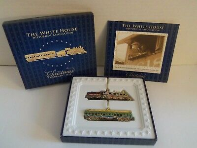 THE WHITE HOUSE Historical Association 2014 Train Christmas Ornament NIB