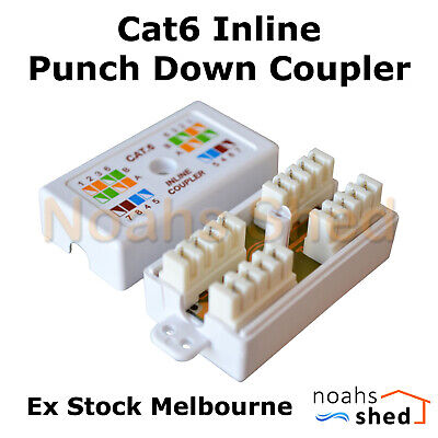 CAT6 Inline Coupler Unshielded UTP IDC Data Cable Joiner Connection Box