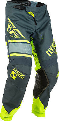 Fly Racing Kinetic Era Pants All Colors/Sizes Gray/Hi-Viz 40 371-43940