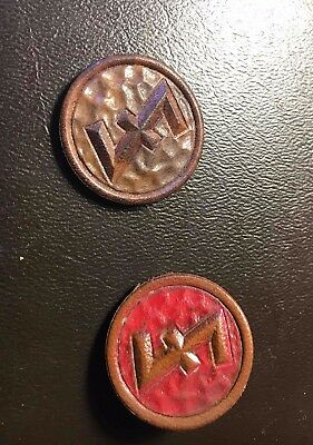 WHW leather  - WWII era - runes