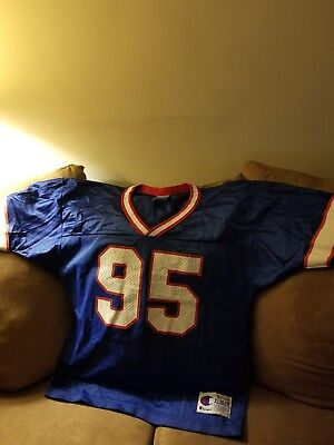 7a1de7b1 1990's Bryce Paup Buffalo Bills authentic Champion Home jersey ...