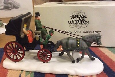 "Dept. 56 Heritage Village Collection ""Central Park Carriage"" Porcelain Figurine"