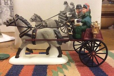 Dept. 56 Red Christmas Sulky Retired 2001 Dickens Village 58401