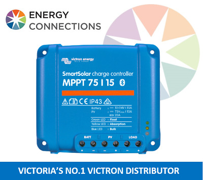 Victron SmartSolar MPPT Charge Controller 75/15 12/24V BUILT IN BLUETOOTH