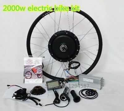 "2000W Motor Electric Bicycle Conversion Kit 60V - Max 70km/h 26"" rear wheel"