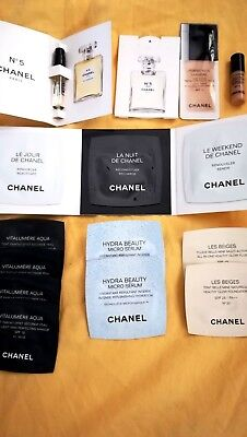beau lot de 15 échantillons divers de  CHANEL
