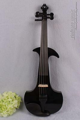 4/4 Electric violin Violin case Bow Powerful Sound silent 5 string peg #1413