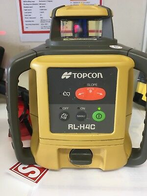 Topcon RL H4C Laser Level with LS 80L Receiver- Serviced & Calibrated!