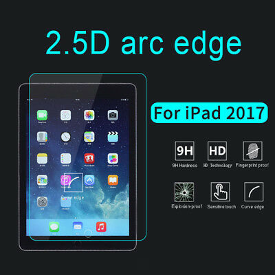 Real Hard Tempered Glass Film Screen Protector Cover For Apple iPad 2017 9.7''