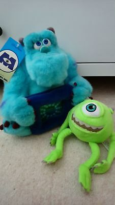 Disney Store Monsters Inc SULLEY soft Toy Frame & Mikey soft toy.