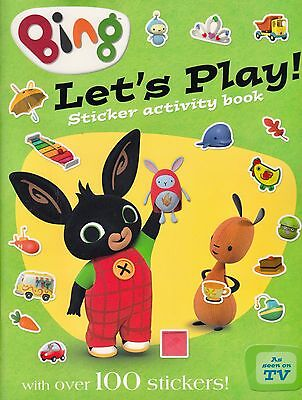 Bing Let's Play Sticker Activity Book BRAND NEW BOOK (Paperback 2015)