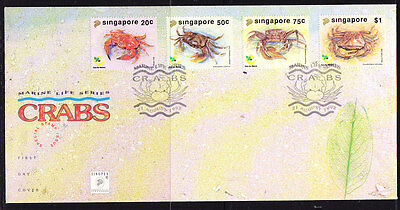 Singapore 1992 Crabs First Day Cover - Unaddressed