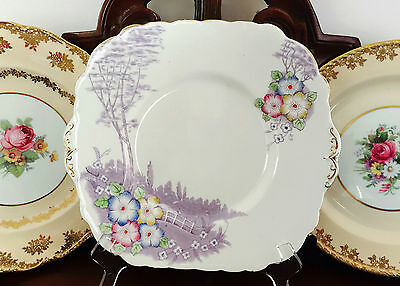 Vintage Colclough Longton Made In England Genuine Bone China Cake Plate C1940's