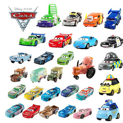 Disney Pixar Cars 3 2 1 Diecast Chick Hick Lizzie Mcqueen King Sally Kids Toys