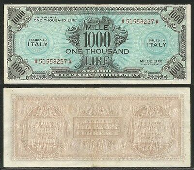 ALLIED MILITARY CURRENCY (AM - LIRE) - 1000 Lire 1943 A