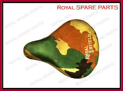 New Royal Enfield Front Solo Seat With Military Canvas Cover Customized