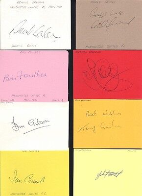 Signed card by Ashley Grimes the Manchester United Footballer