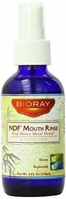Bioray NDF Oral Heavy Metal Detox Mouth Rinse, Lemon Peppermint, 4 Fluid Ounce